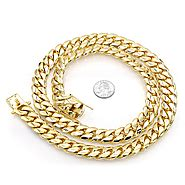 Entrasol Gold Plain 185 Gr s real gold chain necklaces nyc solid 10k 14k gold
