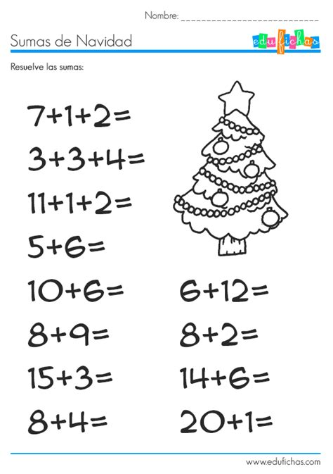 imagenes de matematicas sumas y restas sumas de navidad http www edufichas com actividades