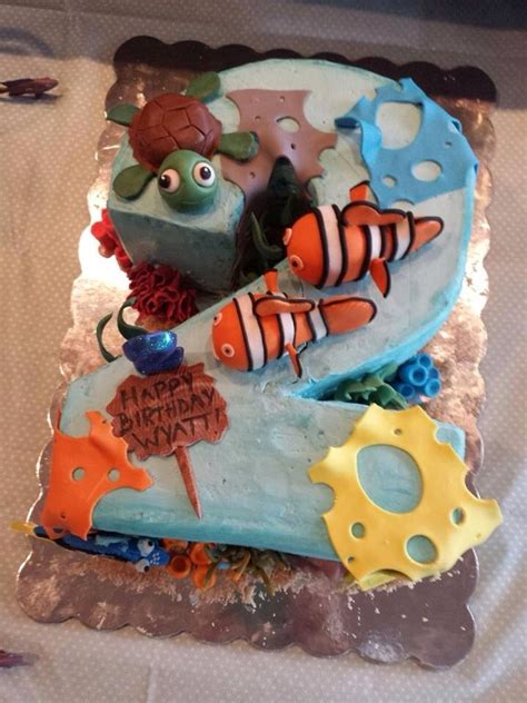 nemo cake template nemo number two cake cakecentral
