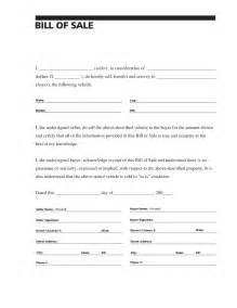 bill of sale form template blank bill of sale for car white gold