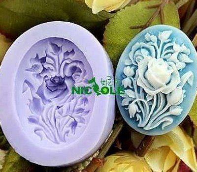 jual cetakan kue puding cokelat sabun motif tanaman mawar di lapak grosir olshop amamad