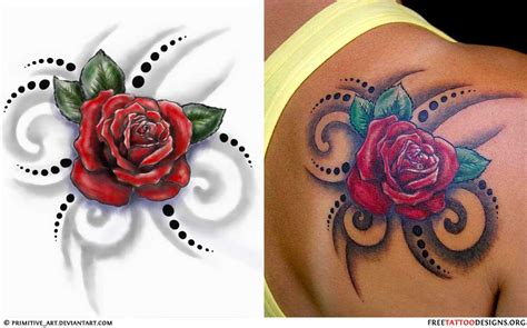 tribal tattoo with rose 50 tattoos meaning