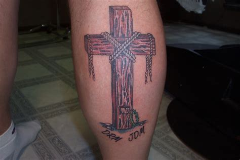 pictures of crosses tattoos wooden cross picture