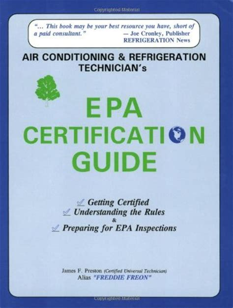 epa section 608 universal certification refrigeration epa refrigeration universal certification