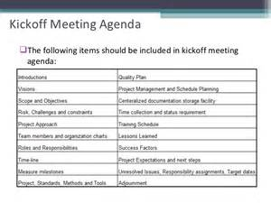 project kickoff meeting agenda best agenda templates