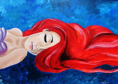 ariel painting ariel the mermaid speed painting
