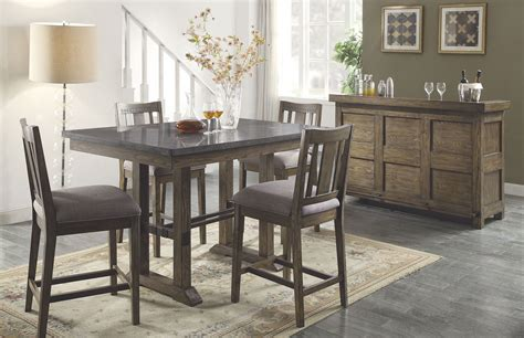 dining room sets rustic willowbrook rustic ash counter height dining room set