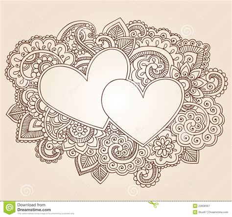 henna hearts valentine s day vector royalty free stock