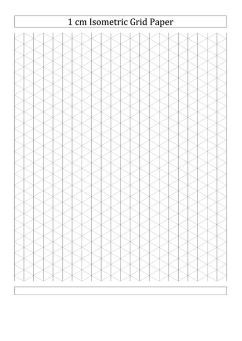 Isometric Dot Paper 1cm