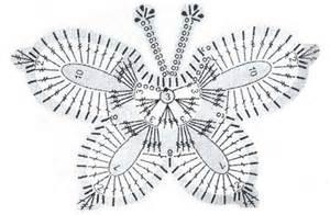 бабочка вязанные крючком схемы
