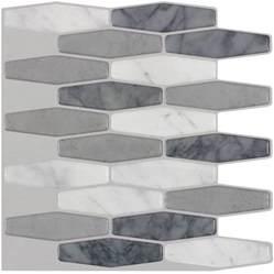 peel and stick mosaic tile shop peel stick mosaics peel and stick marble hex