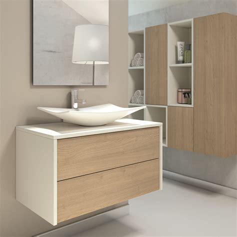 muebles de bao con lavabo sobre encimera top elegante