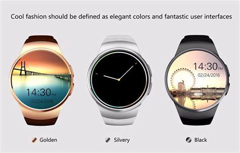 Kingwear Kw18 Smartwatch Bluetooth Ios Android Sim Card Slot Hitam new kingwear kw18 bluetooth smart phone screen