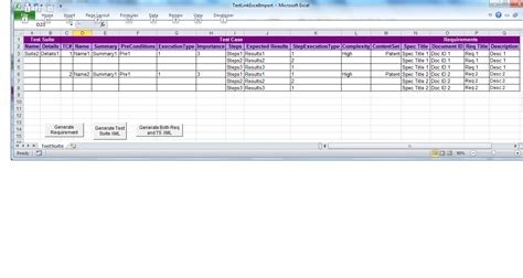 testlink test link import excel of test requirement and