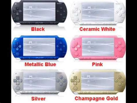 psp colors all of the different psp colors and types in the world