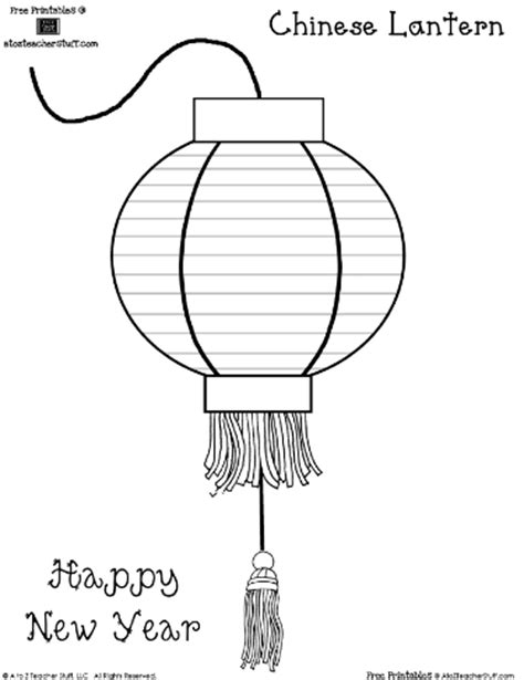 new year lantern colouring lantern coloring sheet or pattern a to z