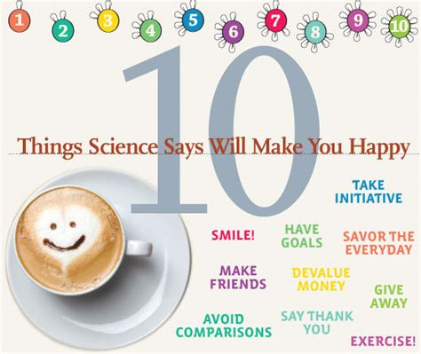 10 Things That Can Make You Happy During The Day by 10 Things Science Says Will Make You Happy