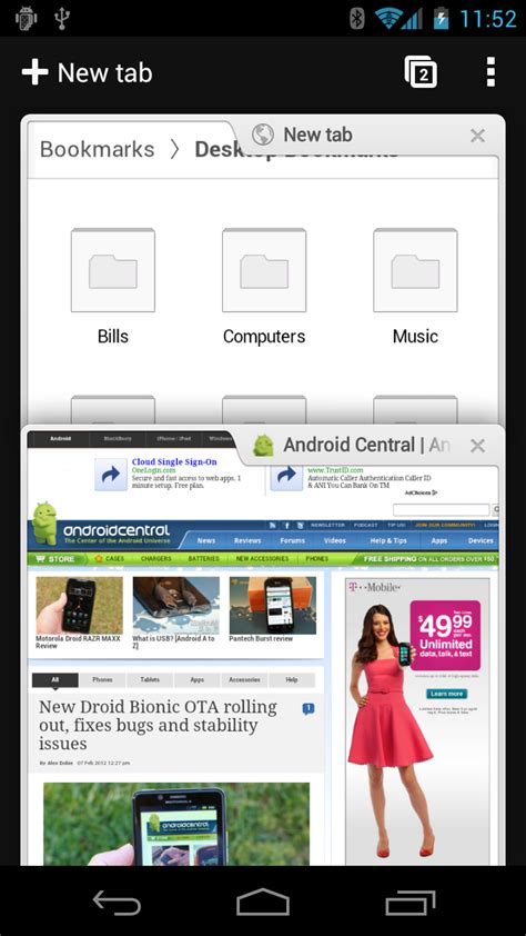 chrome for android devices chrome beta now available for android 4 0 devices android central