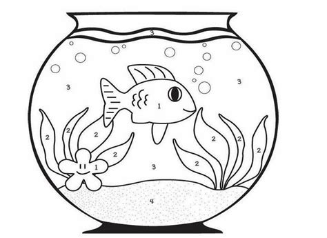 coloring pages fish bowl fish bowl coloring pages coloring home