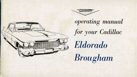 online auto repair manual 1999 cadillac eldorado free book repair manuals 1959 cadillac eldorado owners manual