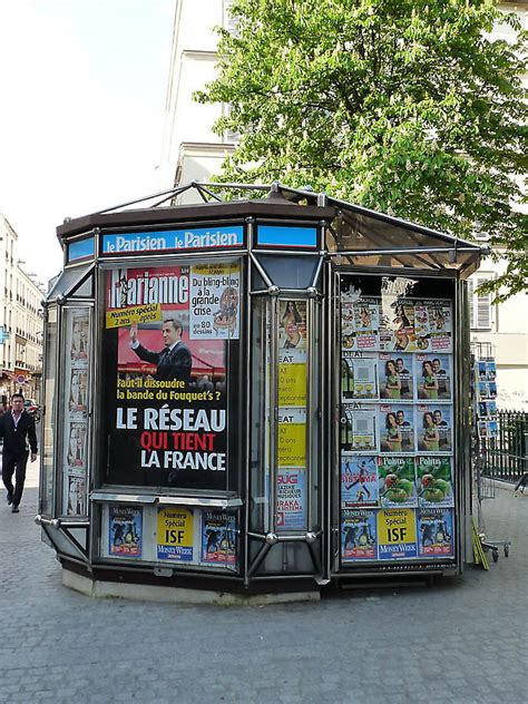 Modern Small Home newspaper stand in paris france