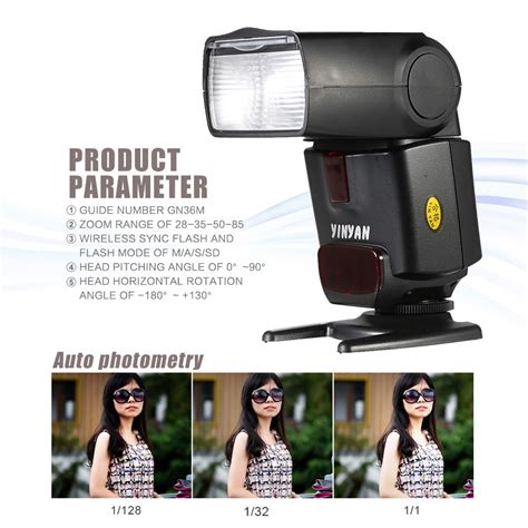 Lu Flash Kamera Dslr Canon yinyan flash kamera zoom speedlite 5600k untuk dslr canon