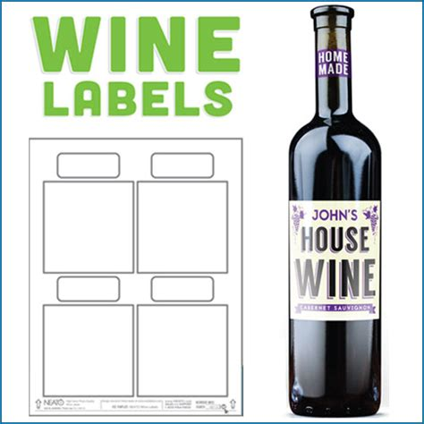 blank wine labels water resistant peel off with ease