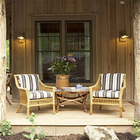front porch furniture ideas cabin decorating ideas from the 2009 giveaway house the