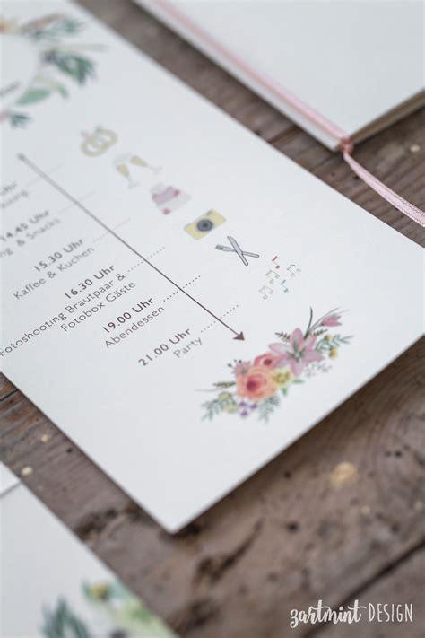 Hochzeitseinladung Ablauf by Hochzeitspapeterie Hochzeitseinladung Sommer Wilde