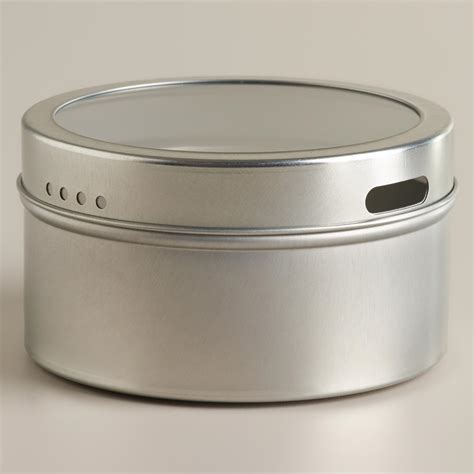 Spice Rack Containers Silver Magnetic Spice Storage Tin Set Of 12 World Market