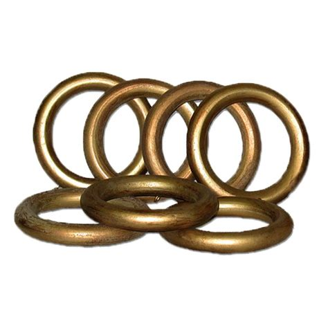 home depot curtain rings classic home 2 in historical gold wood rings set 7 for