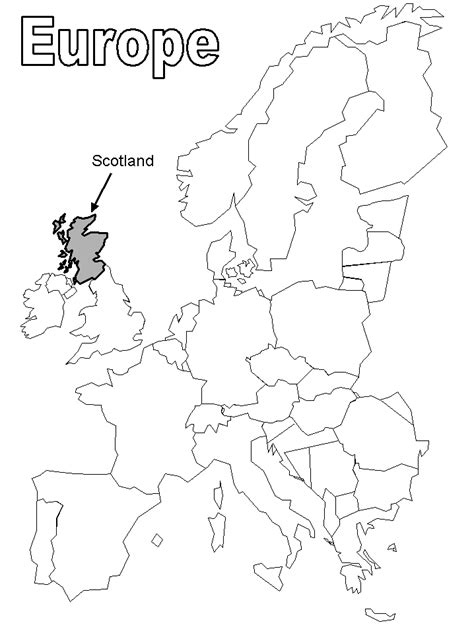 map of scotland colouring pages coloring home