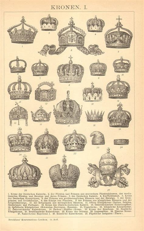 1896 crowns of european empires crown tatt idea tatto