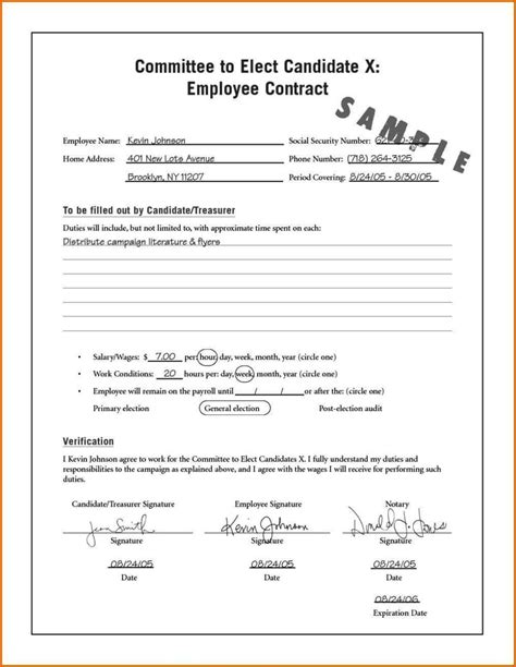 temporary contract template temporary contract of employment template