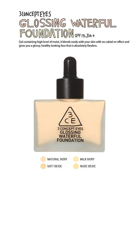 City Color Photo Chic Foundation Soft Beige korea imported 3ce cosmetic glossing waterful foundation soft beige 40g lazada malaysia