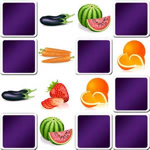 giant vegetables memory game