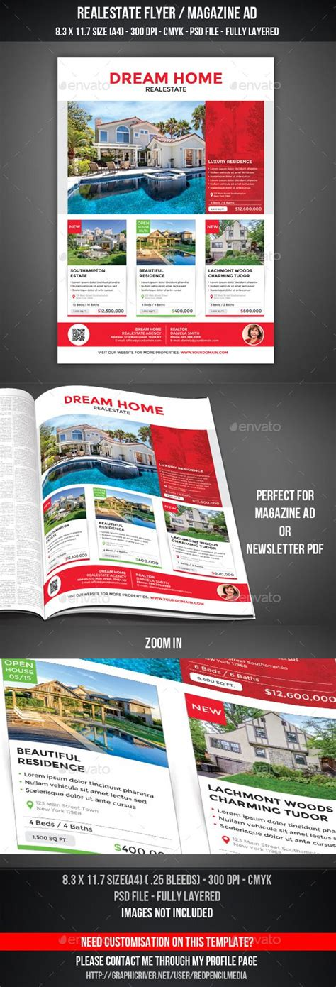 24 Best Real Estate Flyer Inspiration Images On Pinterest Real Estates Corporate Flyer And Magazine Ad Template
