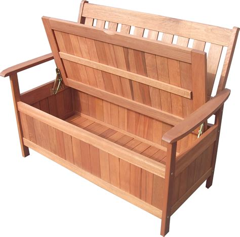 garden storage bench seat outdoor wooden 2 seater w storage garden bench