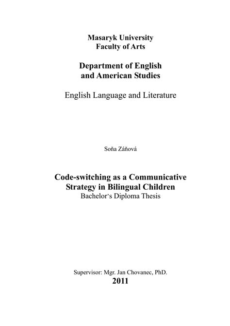 switching thesis advisors code switching as a communicative pdf download available