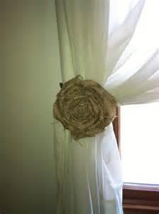 Burlap Curtain Tie Backs Custom Order Burlap Curtain Tie Back Pair Natural Loosely