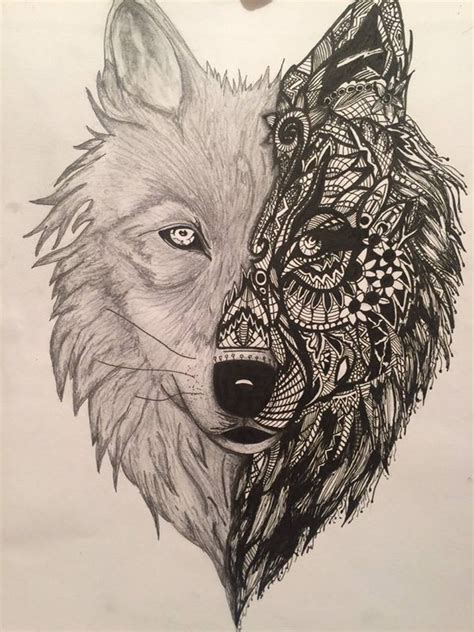 30 Mandala Wolf Tattoos Designs Collection Black Wolf Designs