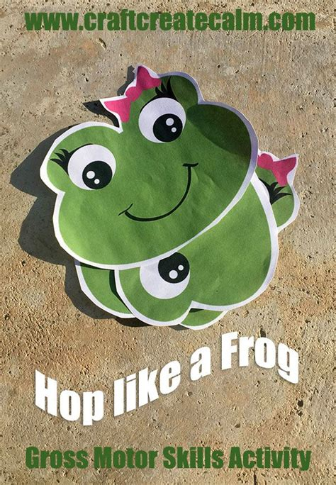 motor skills preschool hop like a frog gross motor skills preschool activity