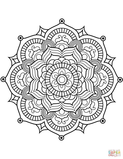 mandala coloring page flower mandala coloring page free printable coloring pages