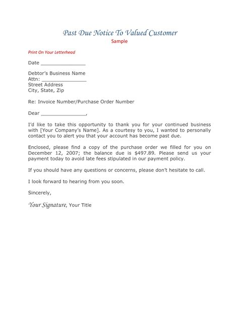 New Invoice Letter past due invoice letter invoice template ideas