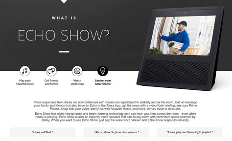 amazon echo series add a voice to your home with amazon s new amazon echo show the latest alexa powered smart device