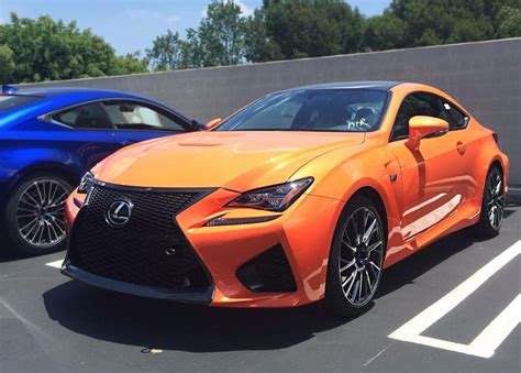 rcf lexus orange lexus rc f orange front