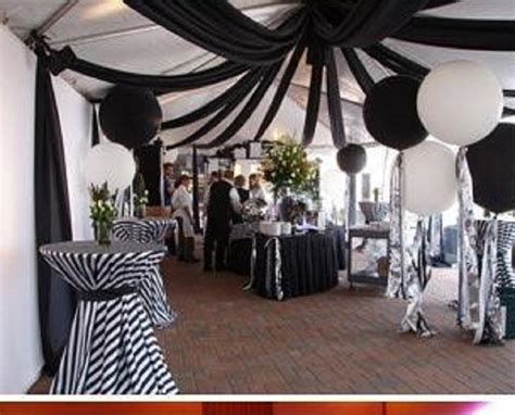 white themed events fun receptions with fabric ceilings black and white