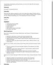 Special Education Resume Examples Paraprofessional Resume Sample Jennywashere Com