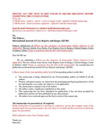 cover letter journal submission cover letter templates