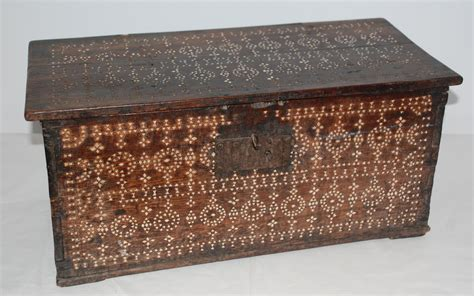 For Sale Antique by Philippine Shell Inlay Chest Early 1900s For Sale